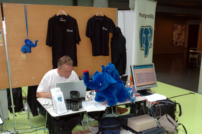 PostgreSQL booth at FrOSCamp 2010