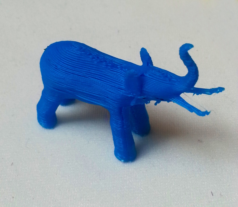 PostgreSQL elephant made with a 3D printer