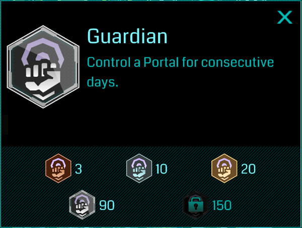 Ingress Guardian Badge