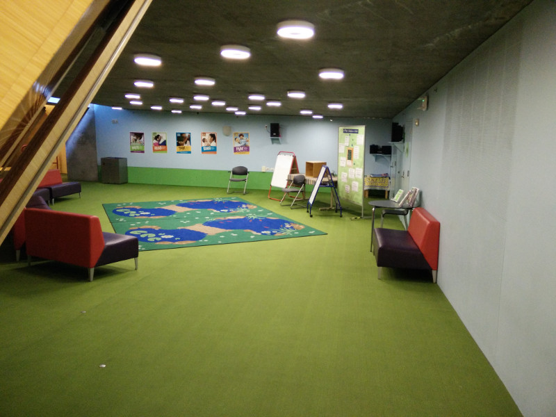 Separate area for book lectures in the children's area