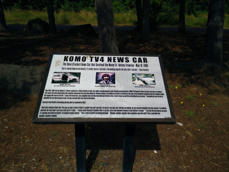 Information board about the KOMO TV4 News Car
