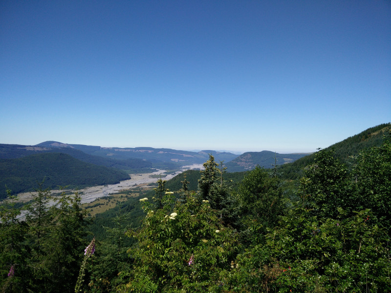 View from the Mount St. Helens Forest Learning Center