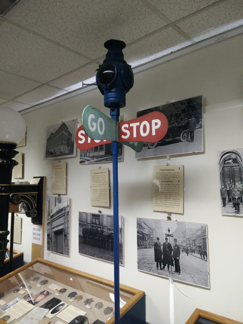 Old traffic light in the Portland Police Museum
