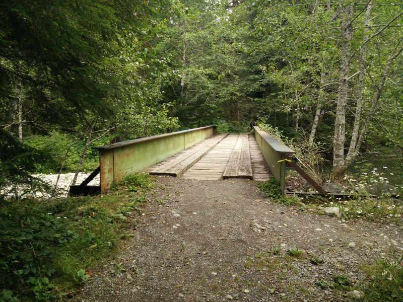 Old bridge on the trail to Monte Cristo