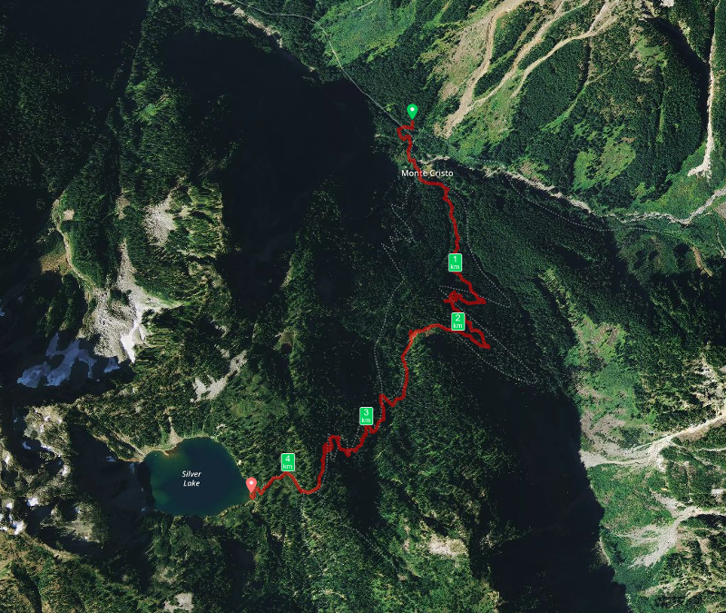 Tracker from Monte Cristo to Silver Lake