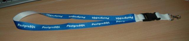 PostgreSQL lanyard keychain